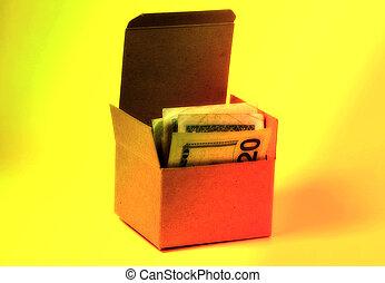 boîte, argent, 2