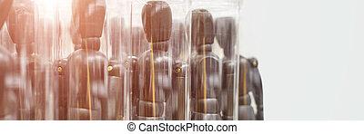 bois, réunion, équipe, model., extraordinaire, mannikin., ikea, figures., business