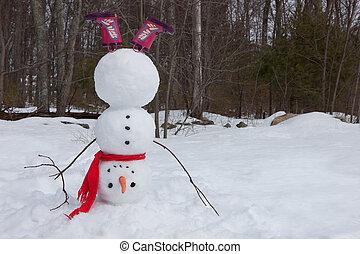 bonhomme de neige, poirier