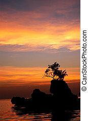 boracay, coucher soleil