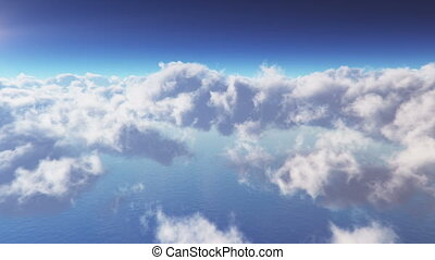 boucle, cloudscape, mouche travers