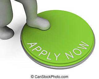 bouton, recrutement, s'appliquer maintenant, emploi, spectacles