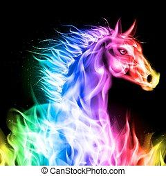 brûler, horse., coloré