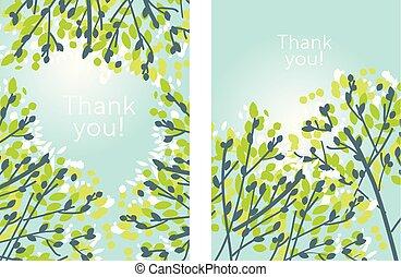 branches, printemps, moderne, arbre, élégant, tendre