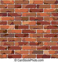 brique, wall., vieux, seamless, texture.