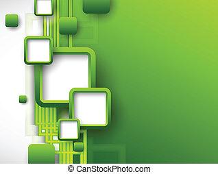brochure, résumé, vert