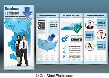brochure, trifold, business, gabarit