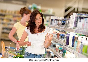 brun, achats femme, série, -, cheveux, département produits beauté