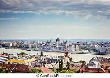 budapest., parlement, hongrois
