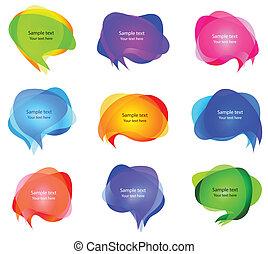 bulles, vecteur, parole, transparent
