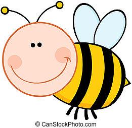 bumble, sourire, abeille