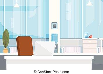 bureau, vide, intérieur, chaise, moderne, lieu travail, bureau