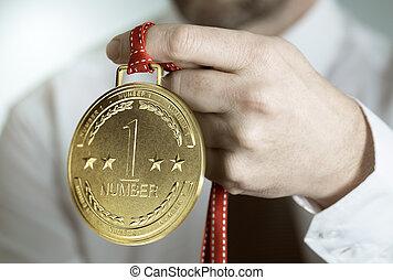 business, compétence, nombre, récompense, une