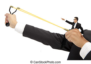 business, concept., motiver, prelaunch, homme affaires, fronde