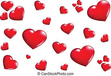 cœurs, texture
