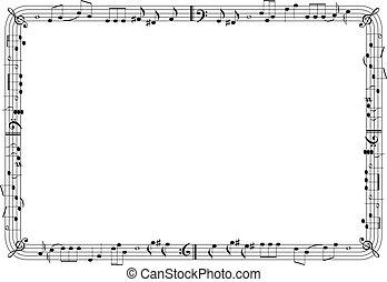 cadre, graphique, musical