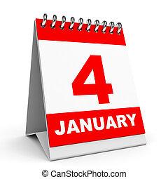 calendar., january., 4