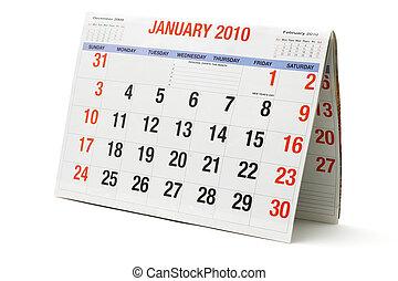 calendrier, 2010