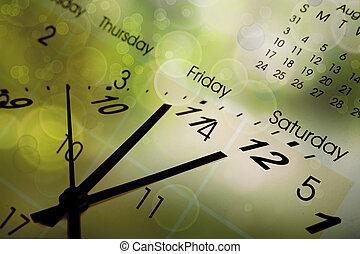 calendrier, cadran