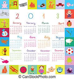 calendrier, gosses, 2013