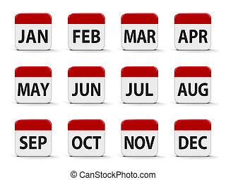 calendrier, mois