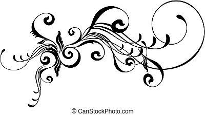 caligraphic, ornement