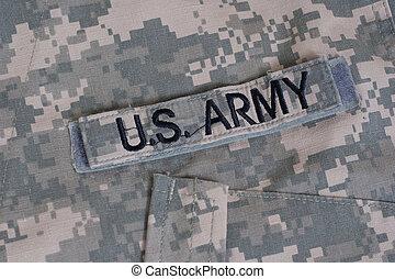 camouflé, uniforme, nous armée