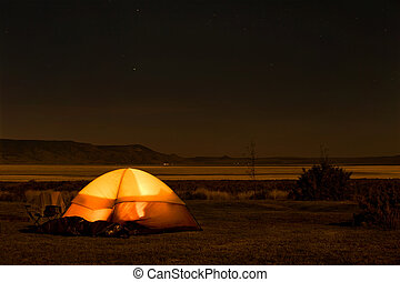 camping, nuit