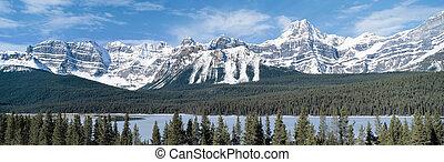 canada, montagnes, colombie, rocheux, britannique, vue panoramique