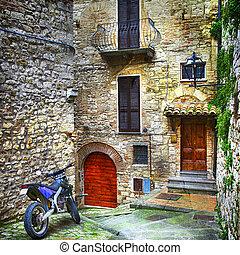 caractéristique, italie, villages