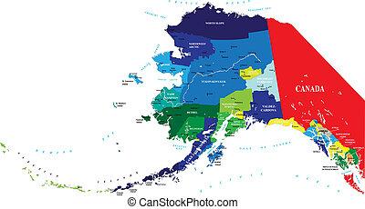 carte, état, alaska