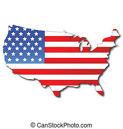 carte, drapeau, américain, usa