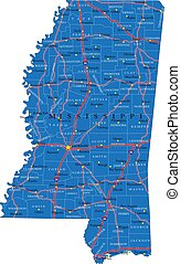 carte, mississippi, route