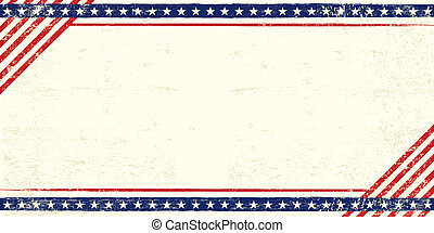 carte postale, américain, grunge
