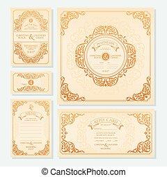 cartes, ensemble, mariage