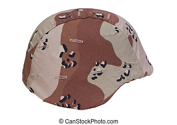 casque, armée, couverture, camouflage, nous, désert