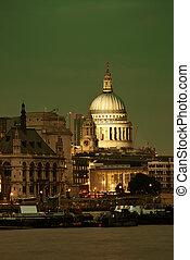 cathédrale, pauls, londres, rue