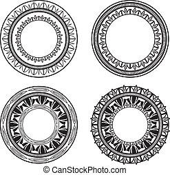cercles, orné