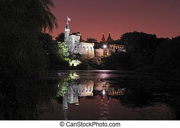 château, nuit