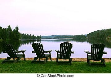 chaises, lac
