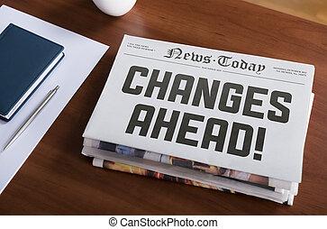 changements, devant