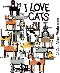 chats, amour