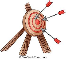 cible tir arc, flèche