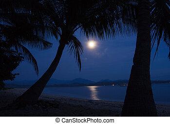clair lune, eau