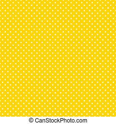 clair, polka, seamless, jaune, points