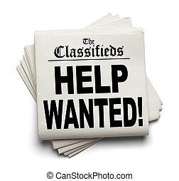 classifieds, aide voulue