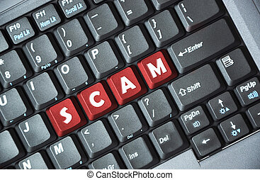 clavier, scam