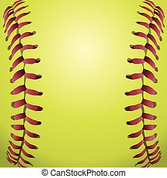 closeup, dentelles, fond, softball