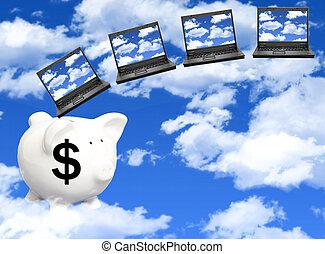coûts, nuage, calculer