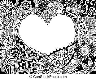 coeur, floral
